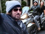 Achy breaking it in! Billy Ray Cyrus and daughter Noah take Miley's birthday trike for a spin