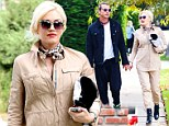 Not exactly blending in! Glowingly pregnant Gwen Stefani tries to play it neutral in beige outfit on coffee run with Gavin Rossdale