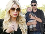 And there he is! Jessica Simpson's fiance Eric Johnson finally gives the world a proper glimpse of their sweet baby boy Ace Knute