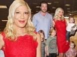 Skint are we? 'Hard up' Tori Spelling 'has THREE nannies looking after her four children'
