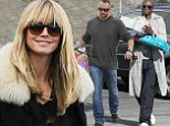 Heidi Klum and Seal reunite for son's birthday bash at go-kart racing track... as her boyfriend Martin Kristen also joins in the festivities