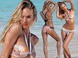Candice Swanepoel shows off impeccable body in skimpy swimwear as she poses in St Bart's for Victoria's Secret photo shoot
