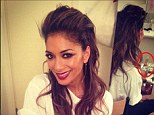 Champagne: Nicole Scherzinger has sparked fears that she was drunk on X Factor after posting picture on Twitter of herself with half-drunk bottle of champagne in background
