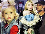She's got her momma's southern style! Jessica Simpson's daughter Maxwell rocks denim vest and top-knot as family heads home for the holidays