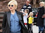 Best parents ever? Pregnant Gwen Stefani and Gavin Rossdale take sons to play with real life Thomas the Tank Engines at Railroad Museum