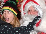 Are you taking pictures? Cara Delevingne was not best pleased about being in front of a camera with no make-up on