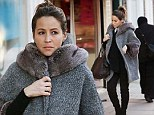 Rachel Stevens has become an expert at hiding her bump of late, but the singer seemed to let her efforts slide as she was spotted out in a stylish fur lined coat