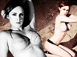 Look away now, Bruce! Rumer Willis strips down to lacy underwear as she digs mud with giant machete for sexy Tyler Shields photoshoot