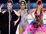 Dance Again... and again and again! Jennifer Lopez whisks in and out of three wild outfits for impressive tribute to Cuban salsa legend Celia Cruz at AMAs