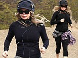 In her stride! Fergie sweats off those post-baby pounds with a cardio run through the hills of LA