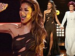 Naughty vs. Nice: Nicole Scherzinger is devilish in black cutaway gown while Sharon is angelic in white on The X Factor