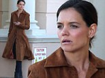 Katie Holmes looks a bit worse for the wear on set of The Giver
