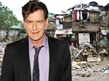 Generosity is good! Charlie Sheen donates $25,000 to help Filipinos affected by Typhoon Haiyan