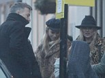 Still friends: Kate Moss takes her daughter, Jefferson Hack and friends to lunch in Primrose Hill, London