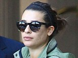 Clear skin: Glee actress Lea Michele showed off beautifully clear skin as she left the Montage Spa in Beverly Hills on Saturday