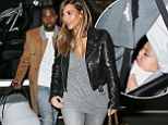 Kim Kardashian, Kanye West, and North West go out for dinner in New York City