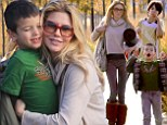 Sugar rush! Brandi Glanville treats her sons Jake and Mason to donuts and popsicles at soccer match