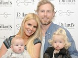 First family photo! Jessica Simpson and fiancé Eric Johnson debut their adorable children Ace Knute and Maxwell on red carpet