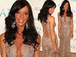 Real Housewives' Carlton Gebbia ensure all eyes are on her in plunging sheer gown at breast cancer event honouring her mother