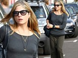 Make-up free Selma Blair goes bra-less but keeps her figure covered up in baggy grunge attire
