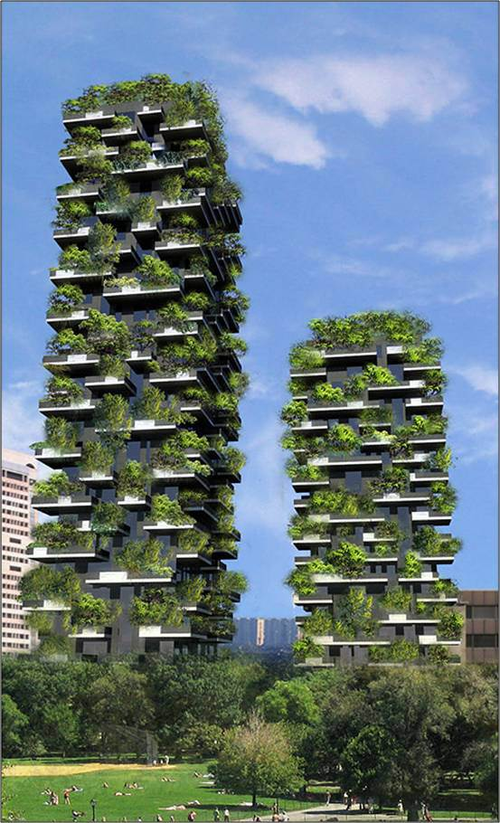 Bosco Verticale, Milan. A prime example of disjointed relationaship between Architecture and landscape elements.