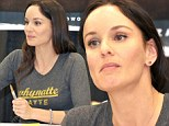 Back from the dead! Andrew Lincoln's onscreen wife Sarah Wayne Callies reunites with The Walking Dead cast at Comic Con