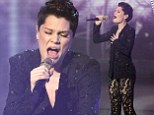 Jessie J teams sheer lace trouser suit with new dark do styled into quiff for X Factor duet with Mary J Blige