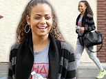 Christina Milian is casual but classy in cosy cardigan as she prepares for ballroom return in Dancing With The Stars finale