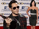 Favourite artist: Marc Anthony, shown accepting the award for Favorite Latin Artist on Sunday at the 2013 American Music Awards in Los Angeles, has been asked to provide more money for child and spousal support by ex-wife Dayanara Torres