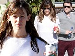 Wet hair and make-up free: Jennifer Garner lets her natural beauty shine through on sunny outing with Ben Affleck