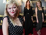Kirsten Dunst is chic in polka dot dress at Anchorman 2 premiere while Kristen Wiig swamps her figure in wide-legged jumpsuit