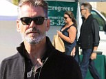 Shades of grey! Pierce Brosnan looks studious in a goatee at the Farmer's Market with wife Keely Shaye Smith
