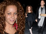 Make-up free Mel B and her husband Stephen Belafonte 'Spice' up their Sunday at hotspot Bootsy Bellows