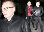 Larry King and seventh wife go out to dinner in L.A. on Saturday