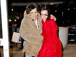 Blowing their minds: Ronnie and Sally get swept away in a Manhattan breeze as the city embraces winter