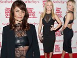 Helena Christensen, 44, holds her own against 20 years younger Hayden Panettiere in daring and sexy sheer ensemble at star-studded charity auction