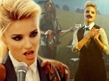 Dianna Agron dons a moustache and cowboy gear to impersonate Brandon Flowers in The Killers new video Just Another Girl