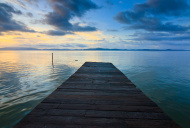 Jetty with sunset at Borneo, Sabah, Malaysia
