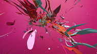 Abstract Colourful 3D Shapes - Pink Version