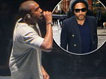 Kanye West makes bizarre rant about 'nice guy' Lenny Kravitz during concert... without knowing he's in the audience!