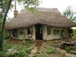 A farmer has built a house for just £150 without using an ancient building technique and materials he found in skips
