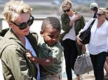 Grandma's here! Charlize Theron and her mother Gerda enjoy a day at Bondi Beach with toddler Jackson