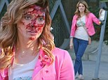 Vampires are so last year! Twilight star Ashley Greene films grisly death scene for new zombie movie Burying The Ex