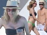 Diane Kruger shows off slender bikini figure as she enjoys Mexican getaway with shirtless beau Joshua Jackson