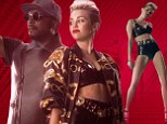 Miley Cyrus performs with will.i.am