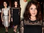 Bond lace: Bond girl Gemma Arterton and Les Misérables actress Samantha Barks look demure at fashion dinner