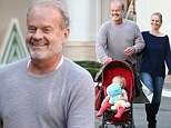 Kelsey Grammer and wife Kayte take their baby daughter Faith for a spot of early Christmas shopping