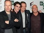 Show reunion: Bob Odenkirk joined RJ, Bryan and Dean on the carpet