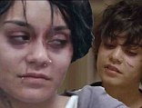 Total transformation: Vanessa Hudgens looked unrecognisable in the trailer for her new movie Gimme Shelter released on Monday