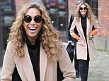 Optical illusion: Leona's clever coat looks slimming and stylish